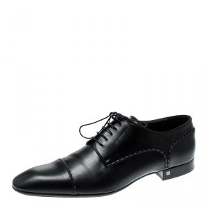 Louis Vuitton Black Leather Lace Up Oxfords Size 44.5
