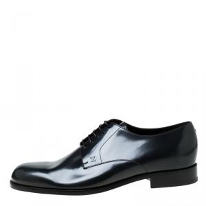 Louis Vuitton Dark Grey Leather Lace Up Derby Size 43.5