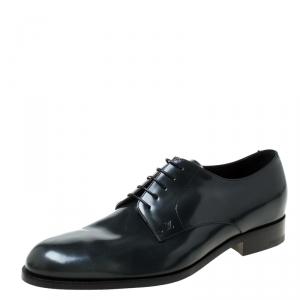Louis Vuitton Dark Grey Leather Lace Up Derby Size 43