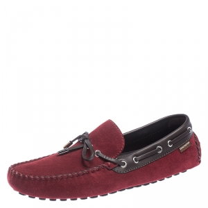Louis Vuitton Red Suede Gloria Loafers Size 42.5