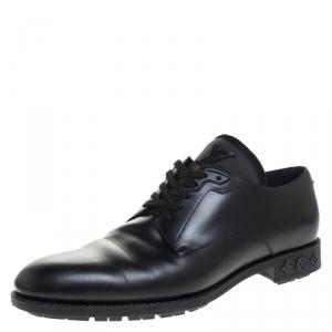 Louis Vuitton Black Leather Lace Up Derby Size 41.5