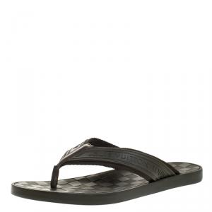 Louis Vuitton Green Damier Rubber Key Flip Flop Flat Sandals Size 41