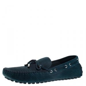 حذاء لوفرز لوي فيتون مونت كارلو دامييه أيبين سويدي أخضر مقاس 41.5
