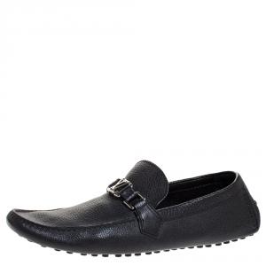 حذاء لوفرز لوي فيتون سليب أون Monte Carlo جلد أسود مقاس 44