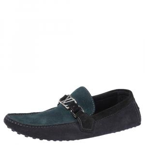 Louis Vuitton Tri Color Suede Hockenheim Loafers Size 41.5