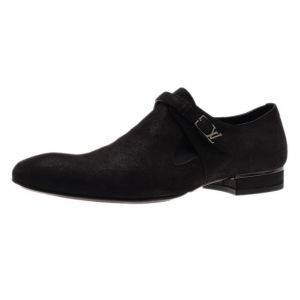 Louis Vuitton Black Suede Vesuvio Oxfords Size 42