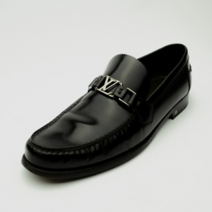 Louis Vuitton Dark Brown Leather Major Loafers Size 44