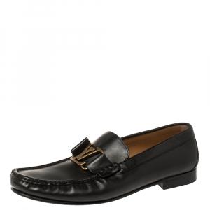 Louis Vuitton Black Leather Montaigne Loafers Size 40