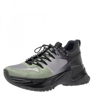 حذاء رياضى لوى فيتون منخفض من أعلى ران أوى بالس شبك وجلد رمادى / أسود مقاس 39