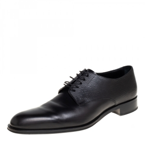Louis Vuitton Black Epi Leather Lace Up Oxfords Size 43.5