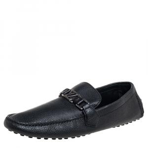Louis Vuitton Black Hockenheim Slip On Loafers Size 43