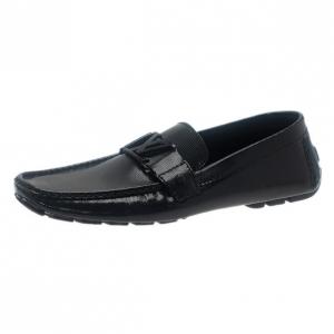 Louis Vuitton Black Patent Monte Carlo Loafers Size 42.5