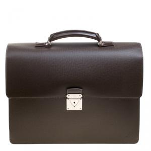 Louis Vuitton Grizzli Taiga Leather Robusto 1 Compartment Briefcase