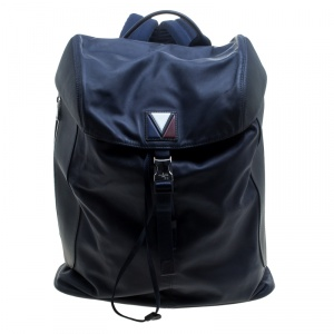 Louis Vuitton Blue/Black Nylon and Leather V Line Pulse Backpack