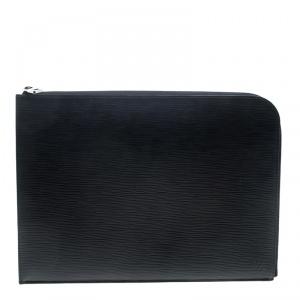 Louis Vuitton Black Epi Leather Poche Documents Portfolio Case
