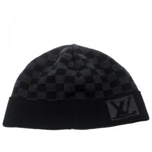 Louis Vuitton Graphite Damier Petite Wool Beanie