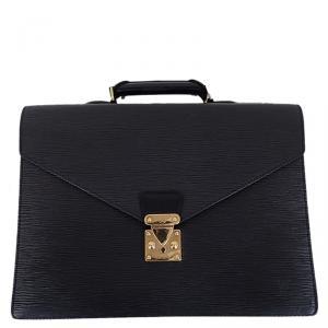 Louis Vuitton Noir Epi Leather Serviette Conseiller Briefcase