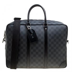 Louis Vuitton Damier Graphite Canvas Porte Documnets Voyage GM Bag