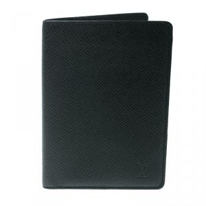 Louis Vuitton Black Taiga Leather Passport Cover