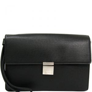 Louis Vuitton Ardoise Taiga Leather Selenga Clutch Bag
