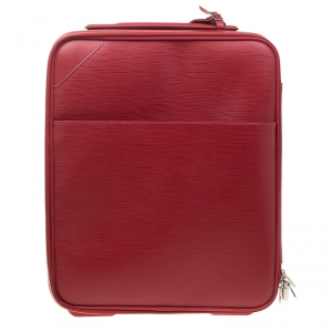 حقيبة سفر لوي فيتون بيغاس بيزنيس جلد إيبي حمراء 45