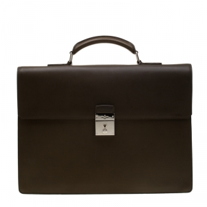 Louis Vuitton Olive Green Leather Robusto I Briefcase