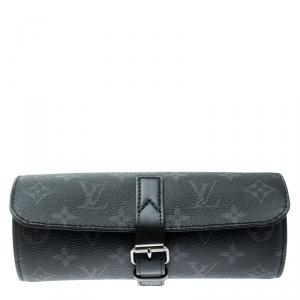 Louis Vuitton Black Monogram Canvas Eclipse Watch Case