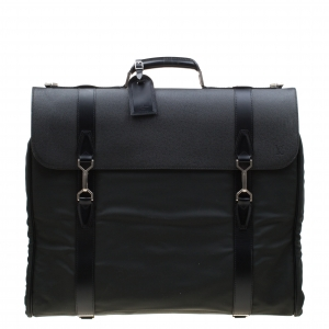 Louis Vuitton Black/Green Taiga Leather and Nylon Gibeciere Garment Bag