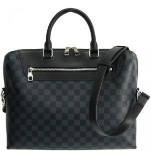 Louis Vuitton Damier Cobalt Canvas Porte-Documents Jour Bag