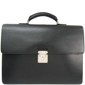 Louis Vuitton Noir Epi Leather Robusto Briefcase