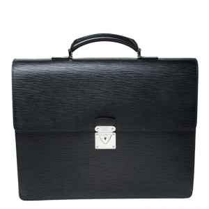 Louis Vuitton Black Epi Leather Robusto 2 Compartment Briefcase