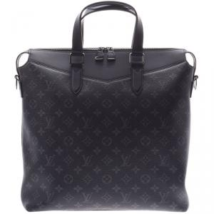 Louis Vuitton Black Monogram Canvas Leather Eclipse Briefcase