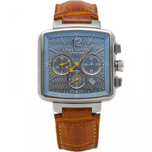 Louis Vuitton Silver Dial Steel Speedy Automatic Men'S Watch 40Mm