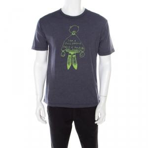 Marc by Marc Jacobs Aegean Blue Cotton Blend Crew Neck T-Shirt M