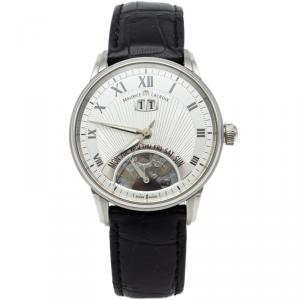 Maurice Lacroix Silver Jours Retrograde Steel Automatic Men's Watch 40MM