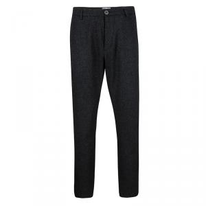 McQ by Alexander McQueen Grey Wool Tailored Trousers XL