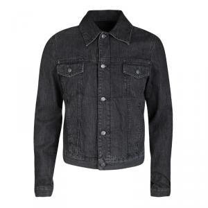 McQ By Alexander McQueen Faded Black Denim Jacket S