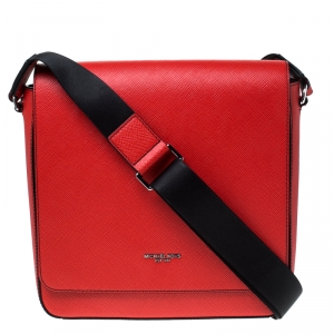 Michael Kors Ruby Saffiano Leather Harrison Messenger Bag