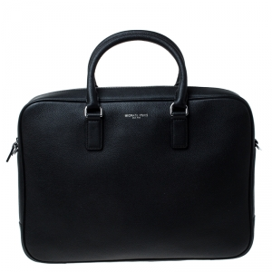 Michael Kors Black Leather Russel Briefcase