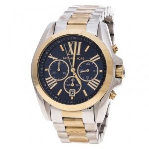 Michael Kors Rose Blue Two Tone Steel Bradshaw Chronograph MK5976 Men's Wristwatch 43 mm
