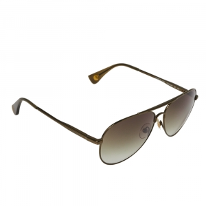 Michael Kors Bronze Tone Titanium / Green Gradient MKS720 Aviator Sunglasses