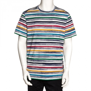Missoni Mare Multicolor Striped Cotton T Shirt L