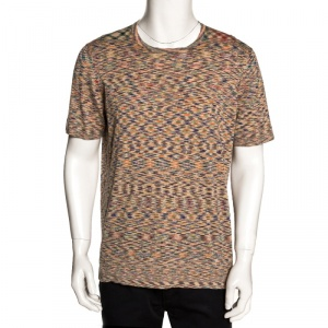 Missoni Mulitcolor Abstract Printed Knit T Shirt L