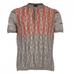 Missoni Men's Multiprint Crewneck Knit Shirt L