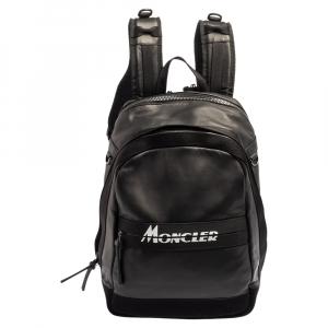 Moncler Black Polyamide Logo-Print Gimont Backpack