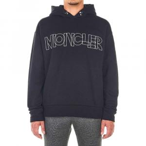 Moncler Black Cotton Blend Sweater Logo Size XL