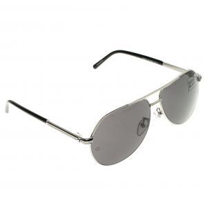 Montblanc Black/Silver MB504T Aviator Sunglasses
