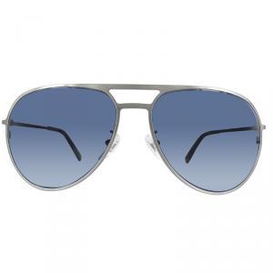 Mont Blanc Shiny Light Ruthenium/Blue MB546SF Aviator Sunglasses
