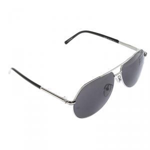 Montblanc Black/Silver MB 504T Aviator Sunglasses