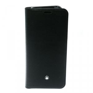 Montblanc Black Leather Flipside Samsung S8 Edge Plus Case
